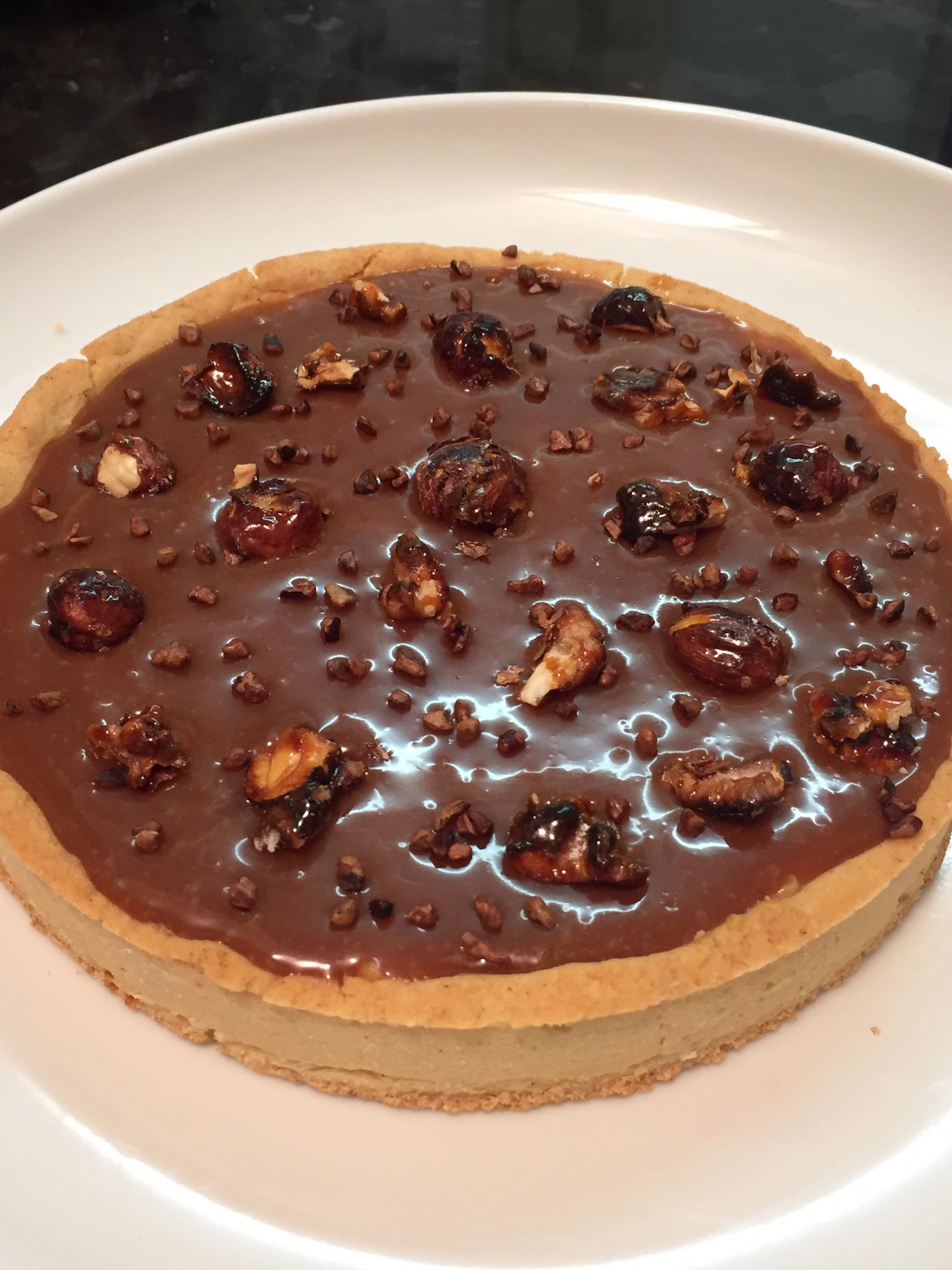 Tarte caramel sans gluten façon Christophe Adam