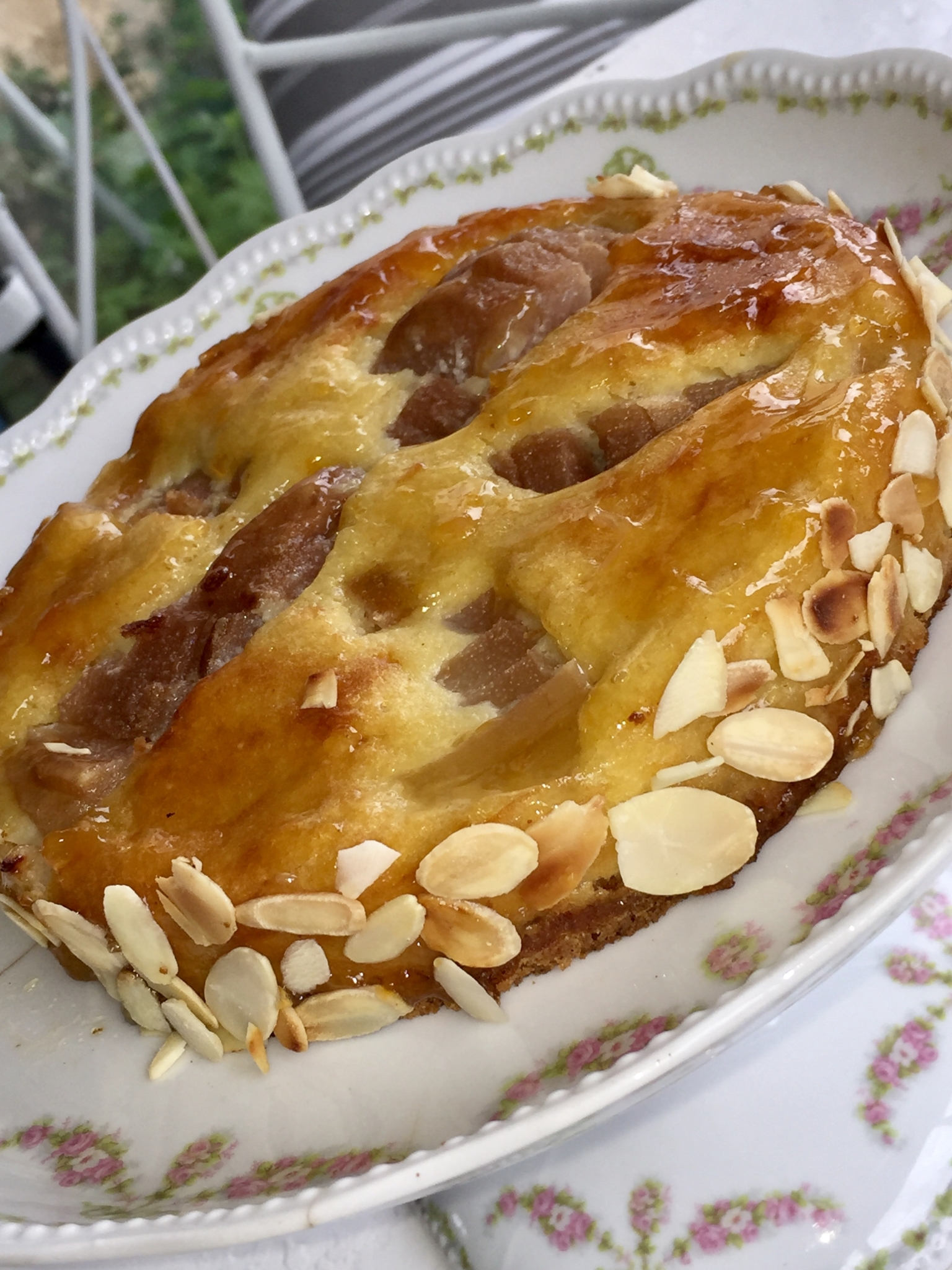 Tarte Bourdaloue sans gluten façon Christophe Michalak