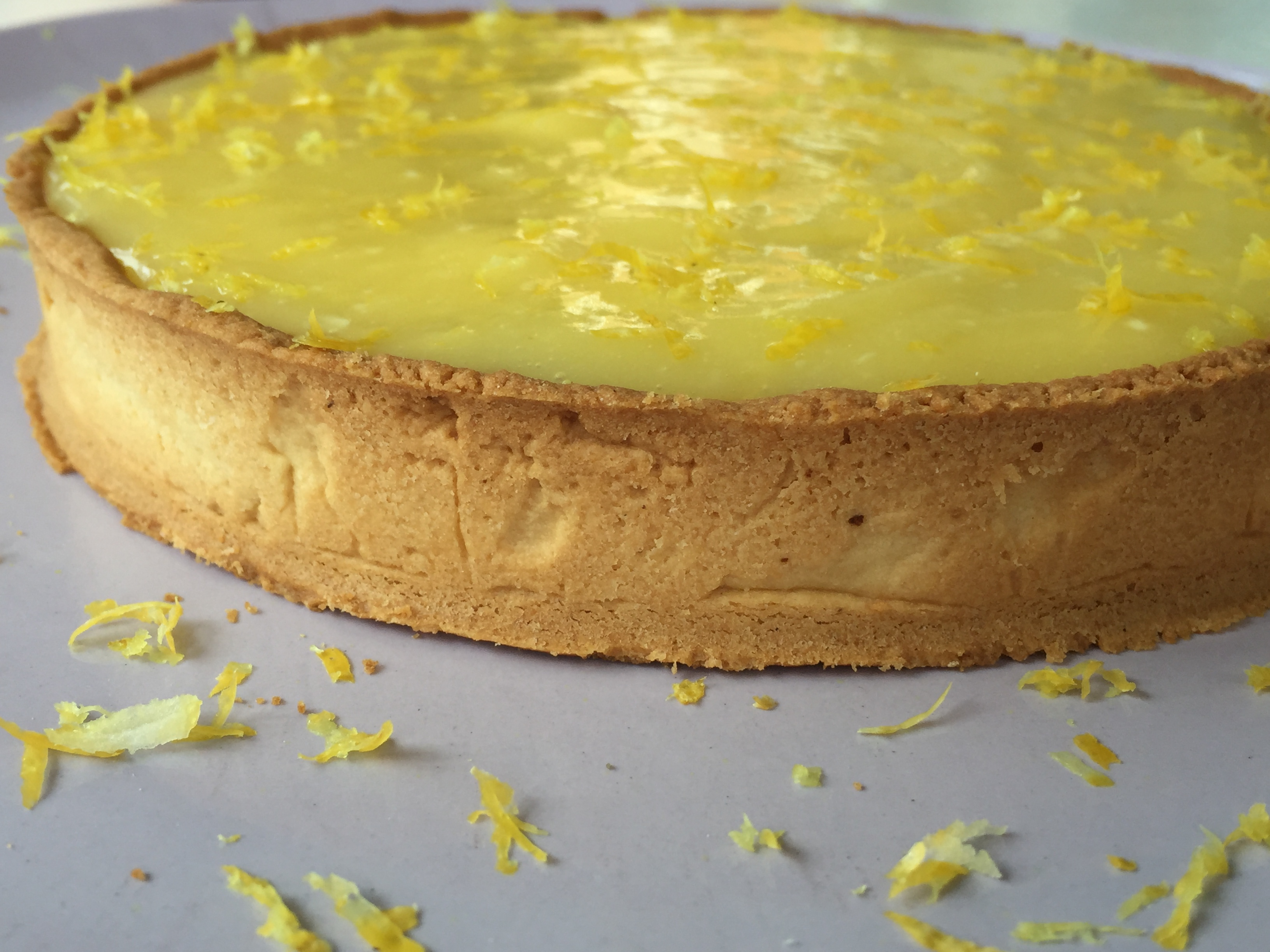 Tarte au citron sans gluten inspirée d'une recette de Philippe Conticini