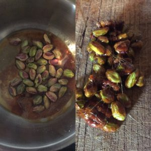 pistaches caramelisees