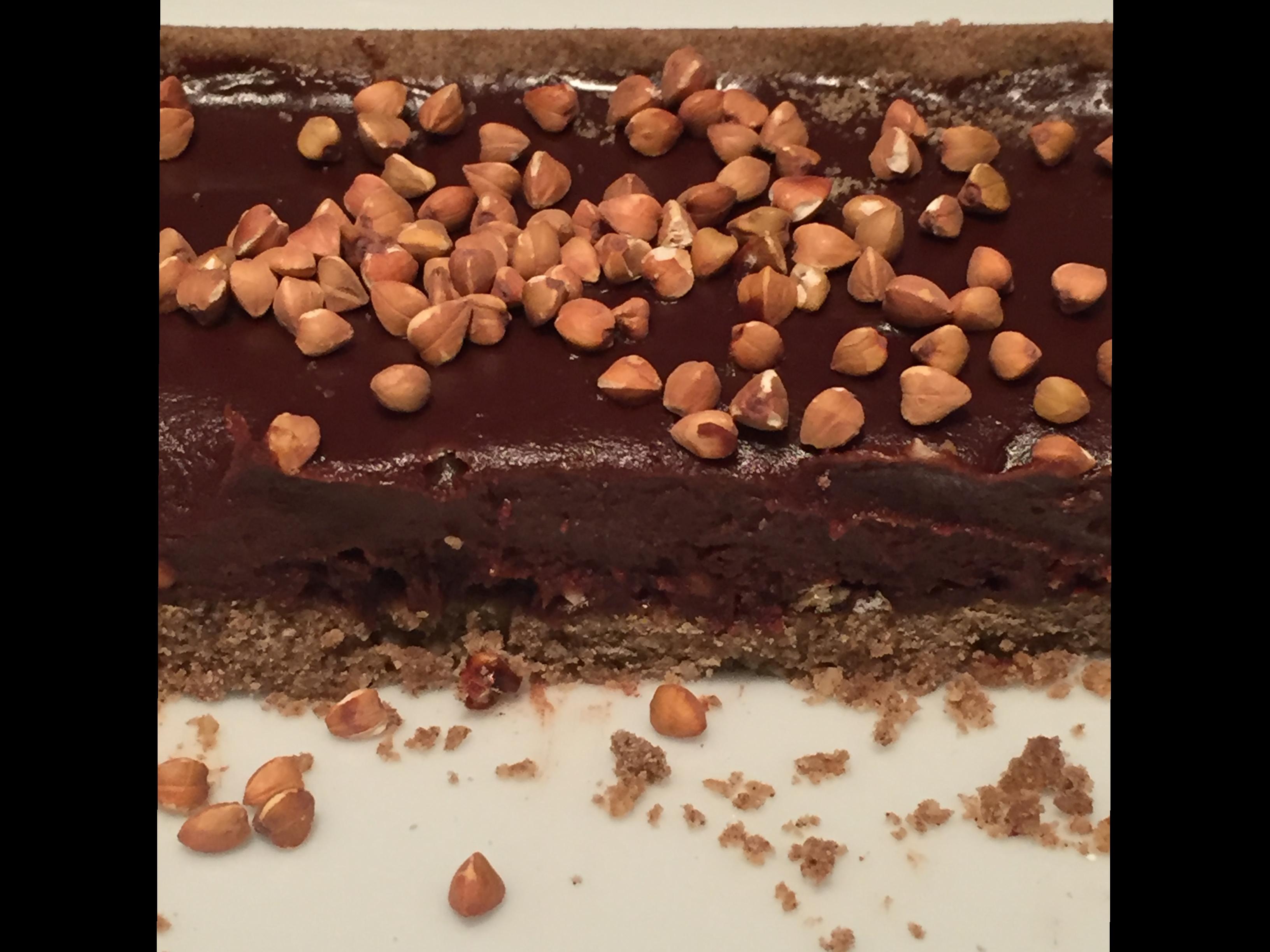 Tarte au chocolat & sarrasin du chef pâtissier de l'hôtel Prince de Galles