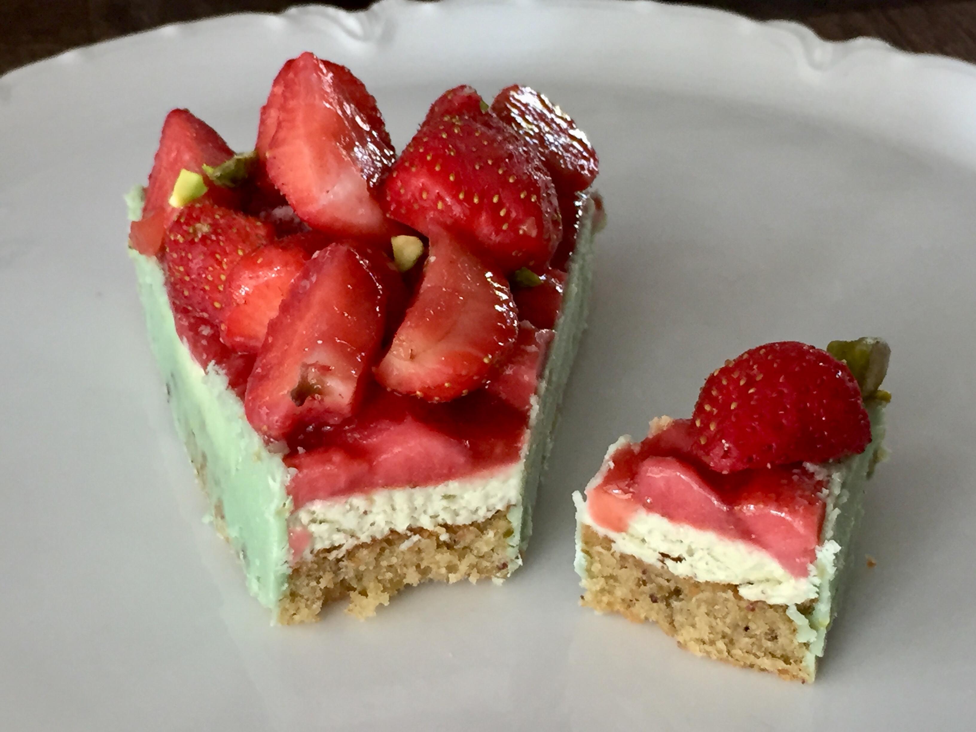 Tarte K fraise pistache de Christophe Michalak sans gluten