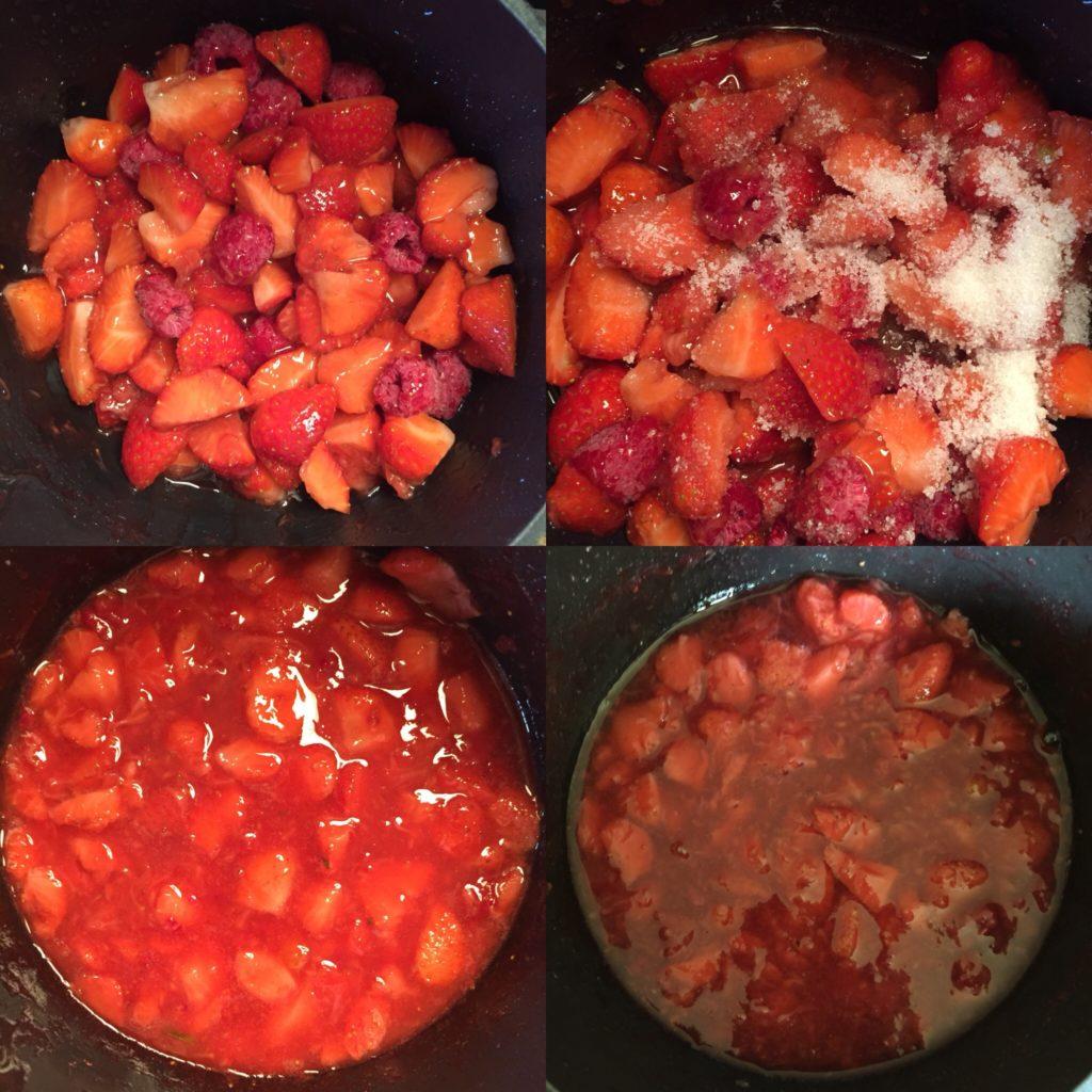 compotée de fraises fraiches