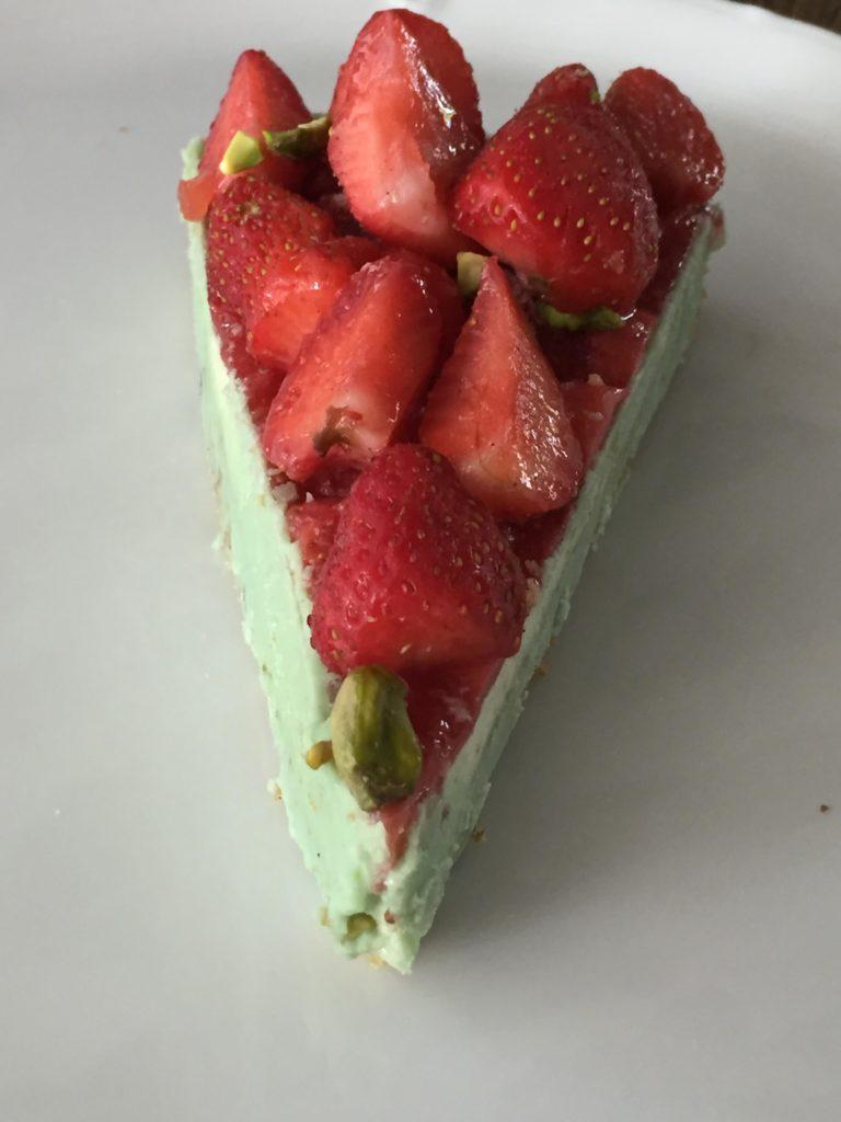 realisation tarte fraises pistaches sans gluten
