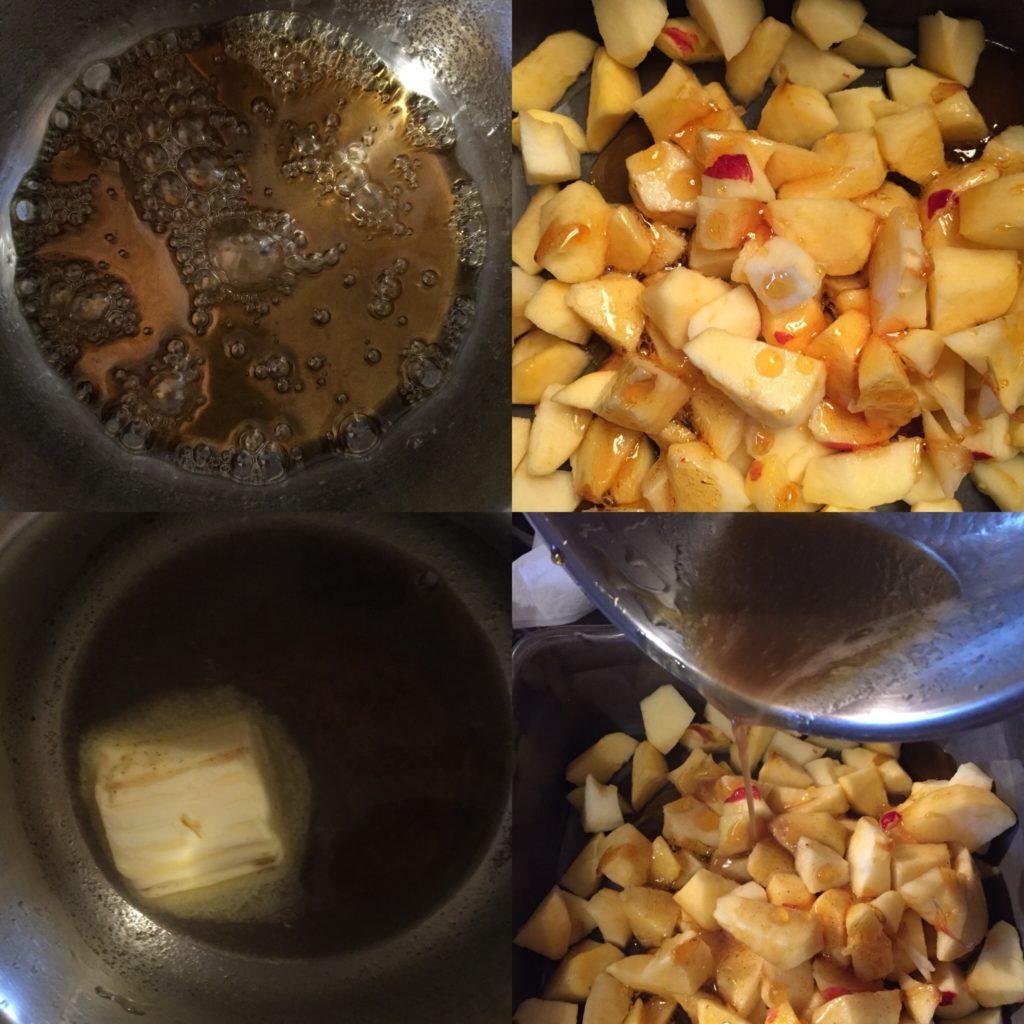 pommes au miel confites