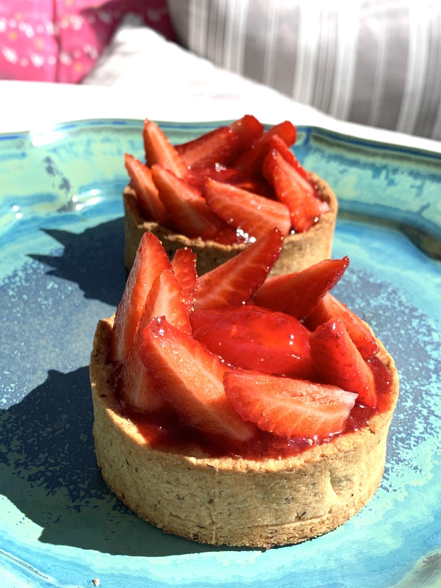Tartelettes fraise-coco