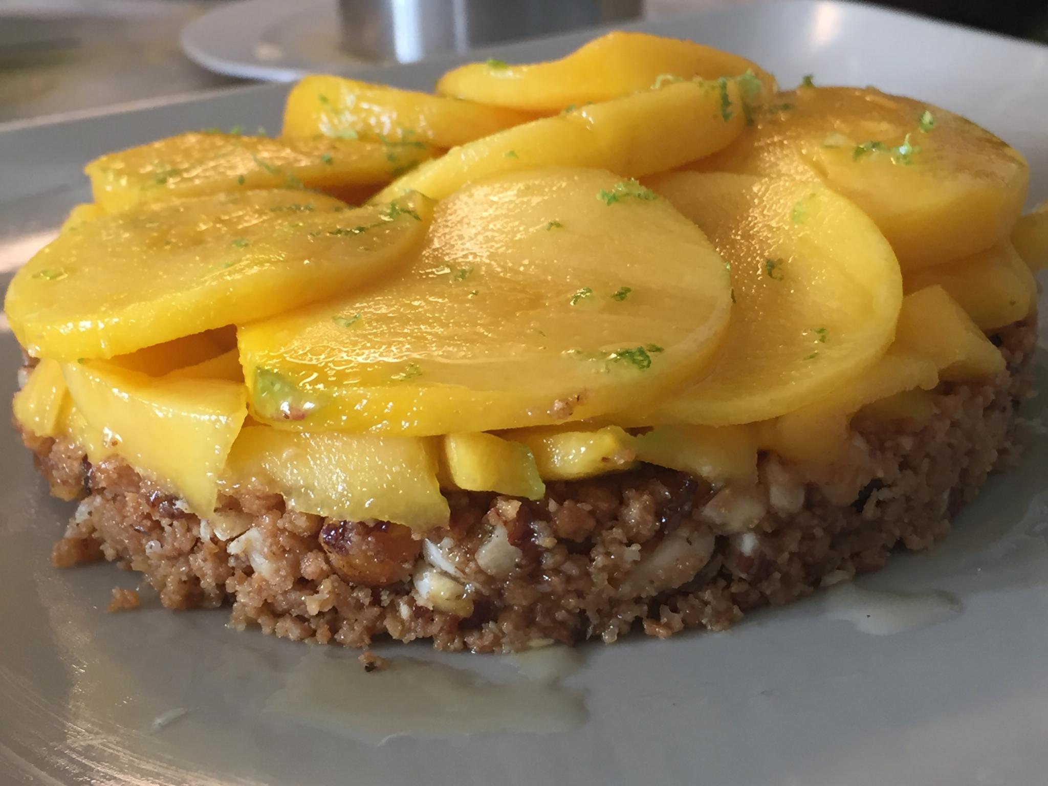 Tarte aux mangues d'après une recette de Cyril Lignac adaptée sans gluten
