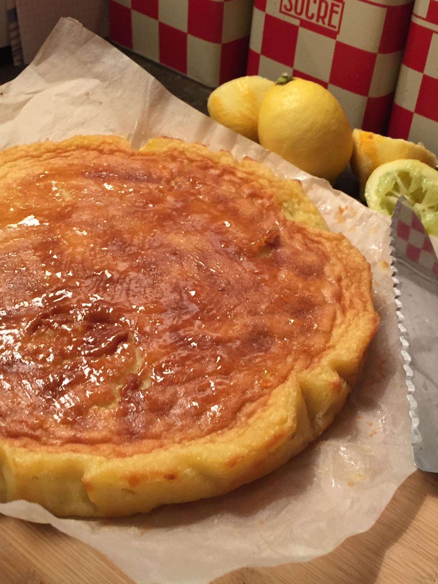 Gâteau amande – citron sans gluten par Christophe Adam