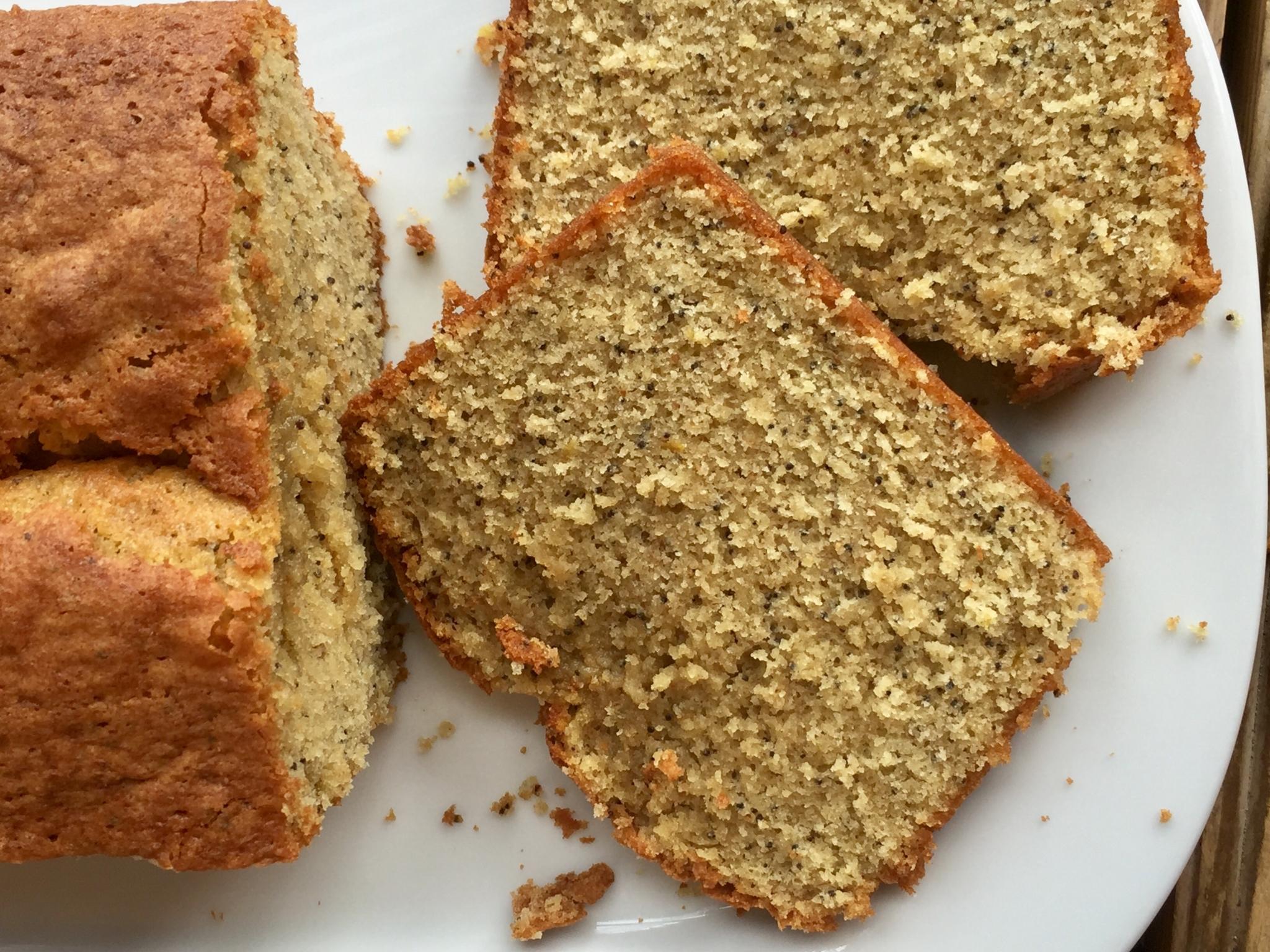 Cake citron pavot de Christophe Adam adapté sans gluten