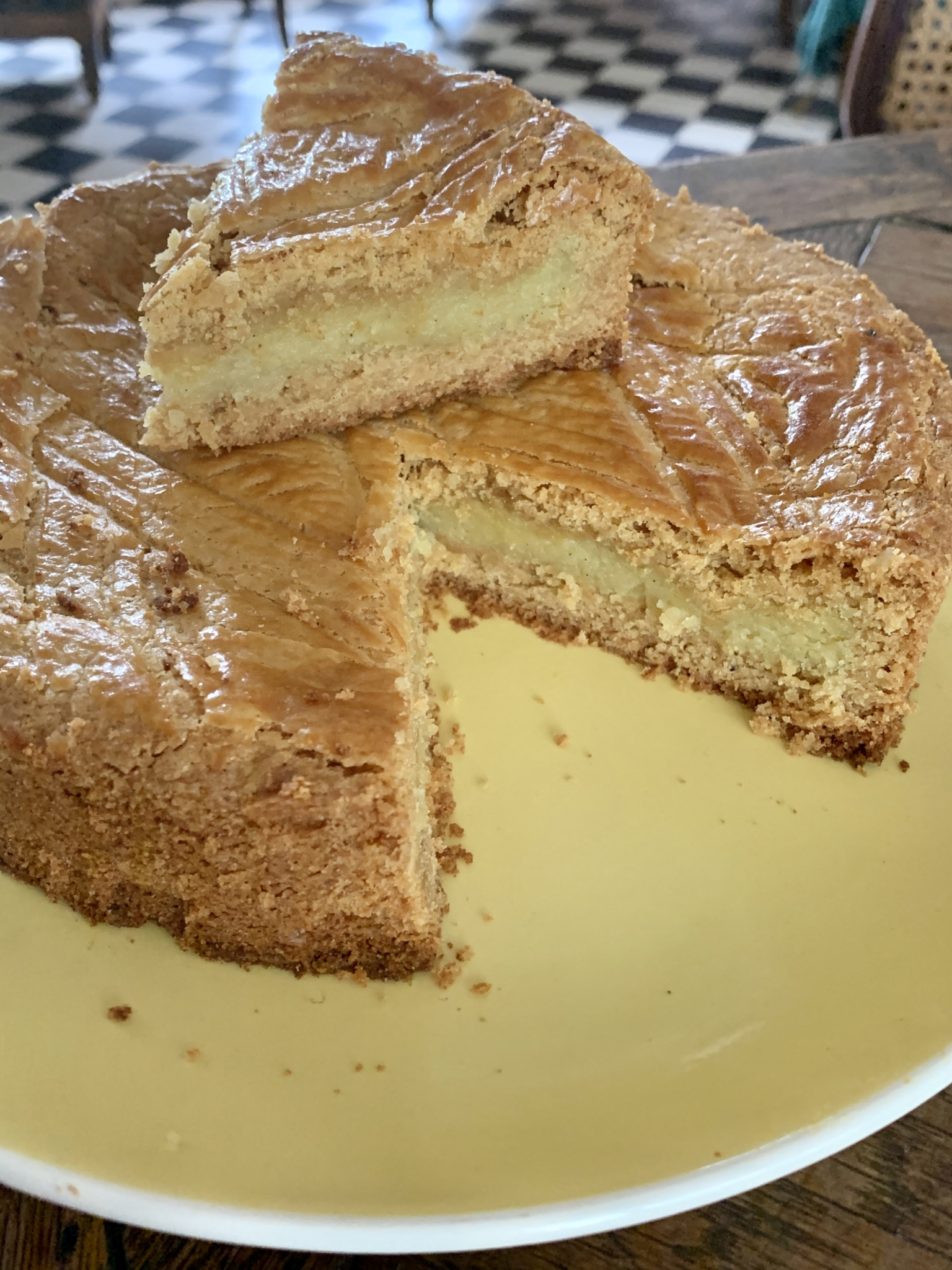 Gâteau basque adapté sans gluten d'une recette de Thierry Bamas
